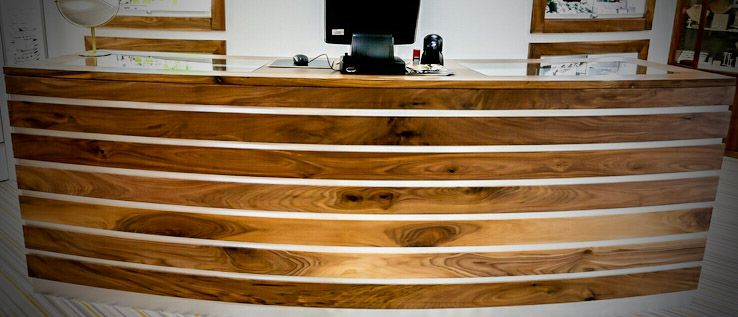 Bespoke walnut shop counter ireland
