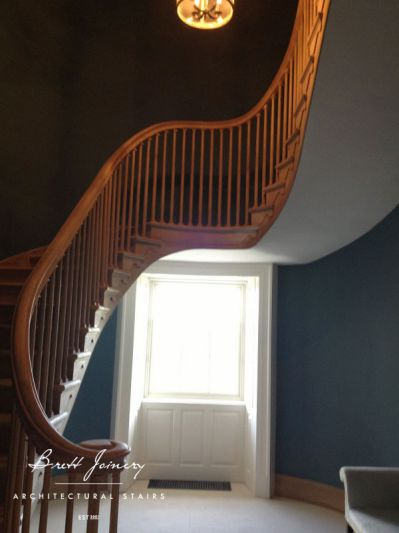 French Oak elliptical staircase