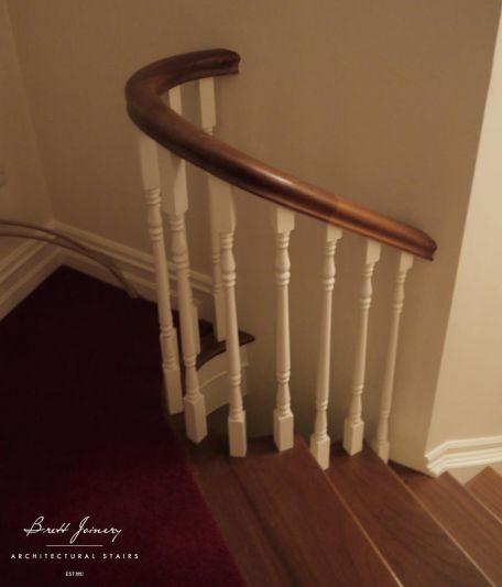 Mahogany cutstring staircase Ireland