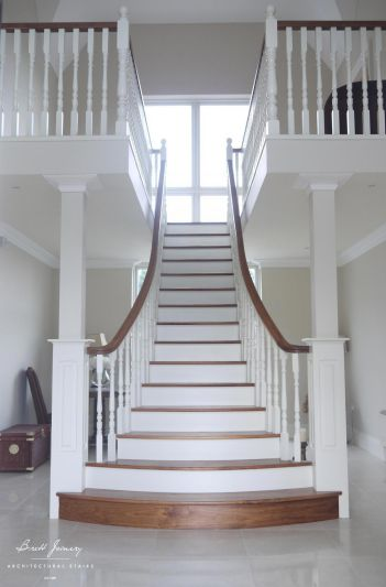 Bespoke Painted poplar stairs Ireland