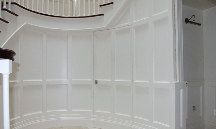 Bespoke curved wall paneling wainscoting Ireland