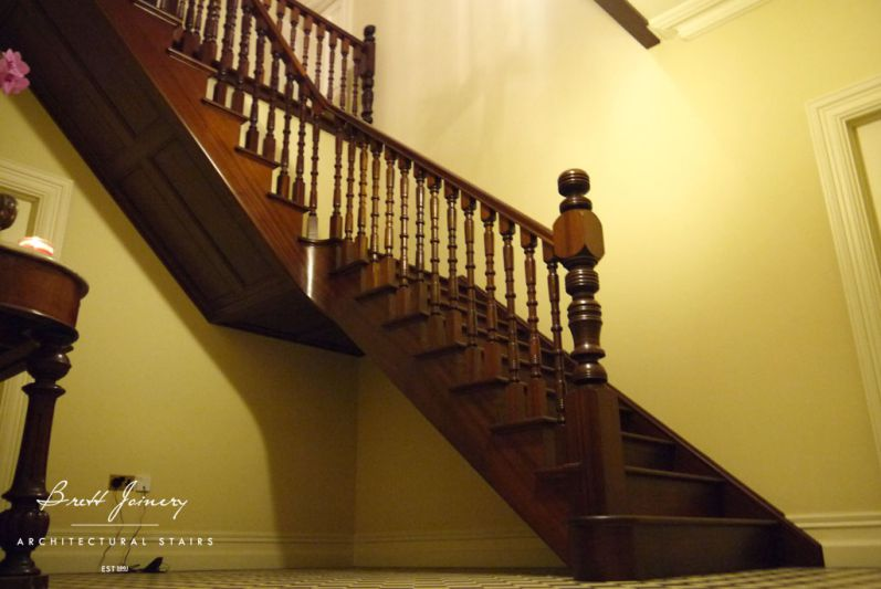 Bespoke mahogany staircase Ireland