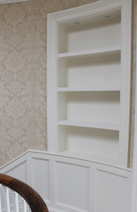 Bespoke recessed shelving Ireland