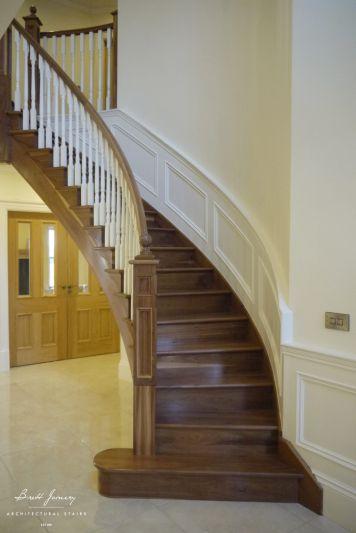 Bespoke walnut Stairs Dublin